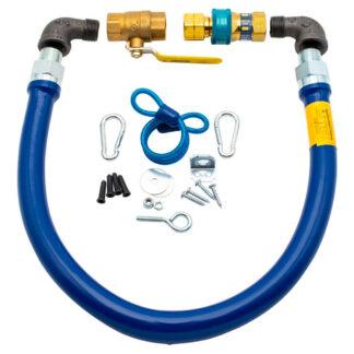 Dormont Stainless Moveable Foodservice Gas Connectors (Blue Hose)