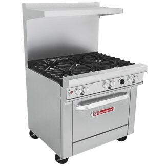 """Southbend 36"""" Ultimate Restaurant Range, 6-Burner, 1 Std Oven (4361D)"""