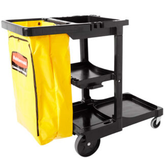 Rubbermaid Janitorial Cleaning Cart, Zippered Yellow Vinyl Bag (617388)