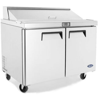 "Atosa 48"" Double Door Sandwich Prep Table (MSF8302GR)"