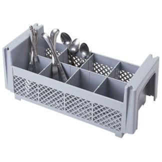Cambro Camrack 8 Comp Half Flatware Basket, No Handles (8FBNH434)