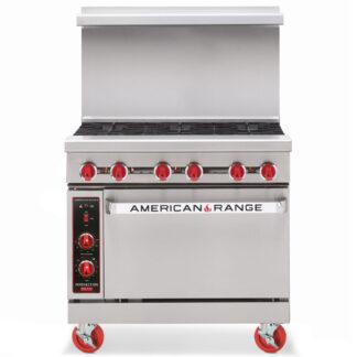 American Range 36″ Heavy Duty 6-Burner Restaurant Range, Standard Oven (AR6)