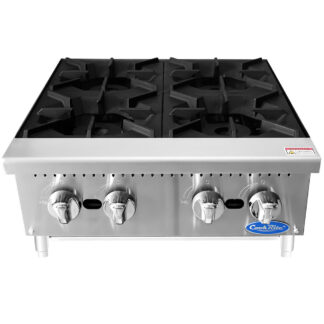 "Atosa Heavy-Duty 24"" 4-Burner Hotplate, NG (ACHP4)"
