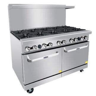 "Atosa 60"" Gas Range, 10 Burner, 2 Oven, NG (ATO10B)"