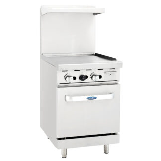 "Atosa 24"" Gas Range, 24"" Griddle, 20"" Wide Oven (ATO24G)"