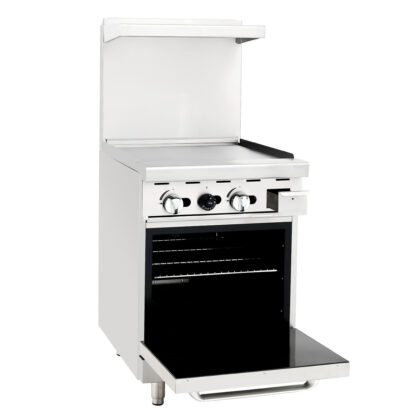 """Atosa 24"""" Gas Range, 24"""" Griddle, 20"""" Wide Oven (ATO24G)"""