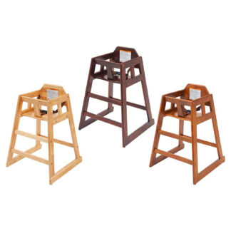 Winco Wood Frame Highchairs and Belts (CHH)