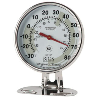 "Bios Fridge & Freezer Thermometer, 3"" Dial (DT167)"