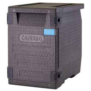 Cambro GoBox® Insulated Carrier, Front Loader, 4 Food Pan Capacity, Black (EPP400)