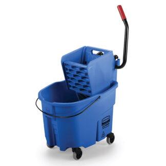 Rubbermaid 35 qt. Mop Bucket with Wringer, Blue (FG758888BLUE)