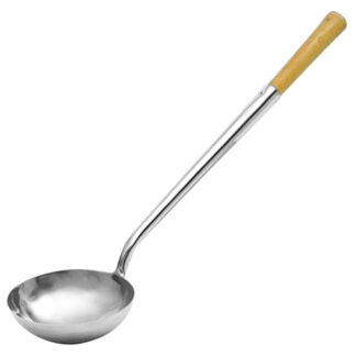 Magnum Chinese Ladle, Wooden Handle, 6oz. (MAG5006)