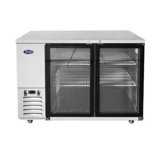 "Atosa 59"" Back Bar Glass Door Cooler (MBB59GGR)"