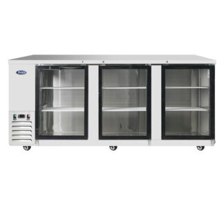 "Atosa 90"" Back Bar Glass Door Cooler (MBB90GGR)"