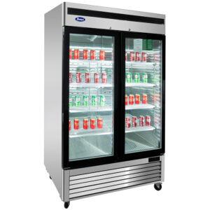 Atosa 47 cu. ft. Two Glass Door Freezer, S/S Interior & Exterior (MCF8703ES)