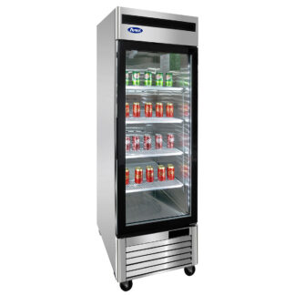 Atosa 22 cu. ft. Single Glass Door Cooler, S/S Interior & Exterior (MCF8705GR)