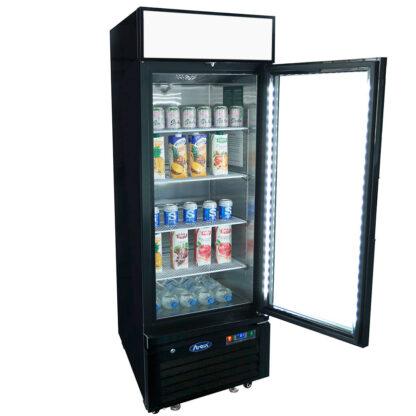 Atosa 11 cu. ft. One Glass Door Merchandiser, Black Ext. (MCF8725GR)