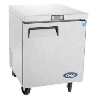 "Atosa 27"" One Solid Door Undercounter Cooler (MGF8401GR)"