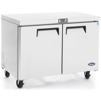 Atosa 48″ Double Solid Door Undercounter Cooler (MGF8402GR)