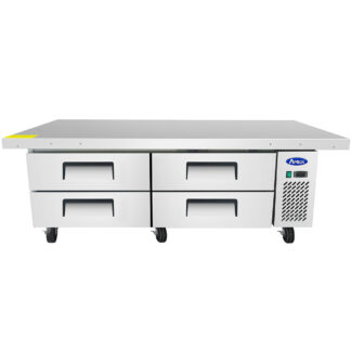 "Atosa 76"" Extended Top Refrigerated Chef Base (MGF8454GR)"