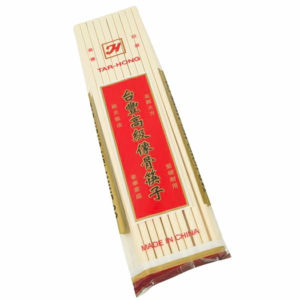 Thunder Group White Plastic Chopsticks, 1000 Pairs/Box (MLCS001)