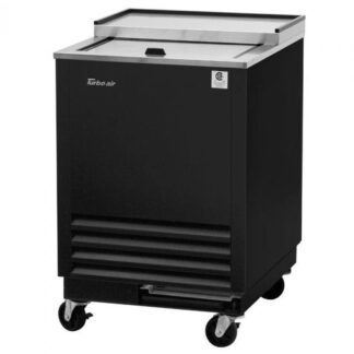 Turbo Air Super Deluxe Glass Froster, 1 Sliding Door, Black Exterior (TBC24SBGF)