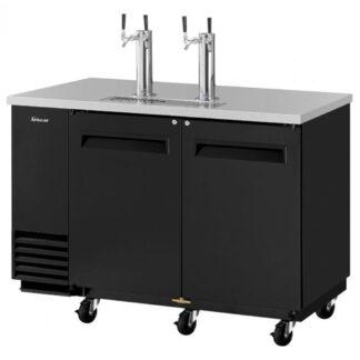 Turbo Air Super Deluxe Beer Dispenser, 2 Swing Door, Black Exterior (TBD2SB)
