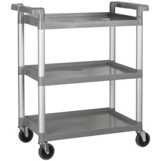 "Winco Utility Cart, 32"", 3 Tiers, Gray (UC2415)"