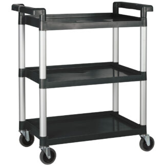 "Winco Utility Cart, 32"", 3 Tiers, Black (UC2415K)"