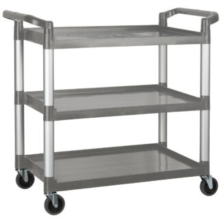 "Winco Utility Cart, 40"", 3 Tiers, Gray (UC3019G)"
