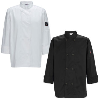Winco Men's Tapered Fit Chef Jacket (UNF6)