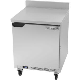 """Beverage-Air Solid Door Worktop Refrigerator, 29"""" Depth (WTR27AHC)"""