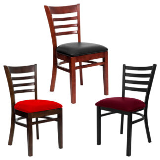 Reliant Ladderback Chairs, Cushion Seat (CH)