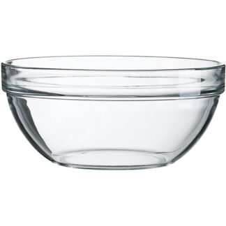 Arcoroc Clear Glass Stackable Bowls