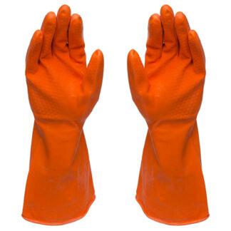 Icon All-Purpose Rubber Gloves, 18 mil, Orange (D4)