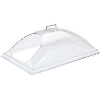 "Cambro Camwear Dome Display Cover, End Cut, 12""x20"" (DD1220ECW)"