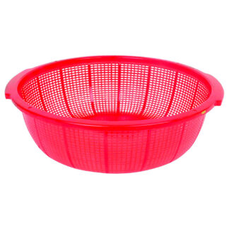 """Thunder Group Round Plastic Colander with Handles, 18.5"""" (PLFP001)"""