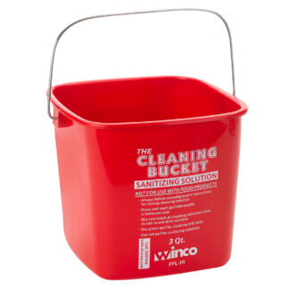 Winco 3 Qt. Red Sanitizing Bucket (PPL3R)