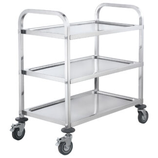 Winco Stainless Steel Trolley, 3 Tiers (SUC40)