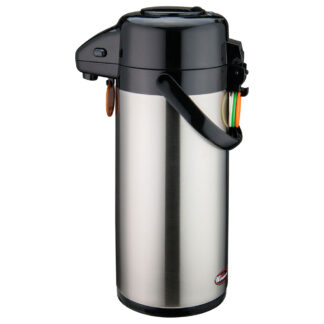 Winco 2.5L Stainless Steel Lined Airpot, Push Button (APSP925)