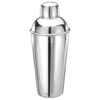 Winco 16 oz Deluxe Bar Shaker, 3 Piece Set, Stainless Steel (BL3P)