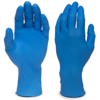 Globe Nitrile Gloves, Powder Free, 5.5mil Dark Blue, Medium, 100/Box (D3NNPM)