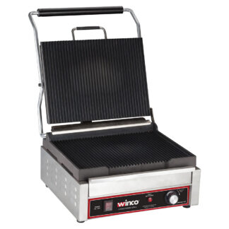 "Winco Single Panini Grill, 14"" x 12"" Surface (EPG1C)"