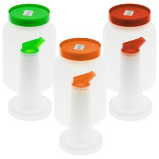 Winco 2 Qt. Liquor/Juice Pour Bottle, Spout and Lid (PPB2)