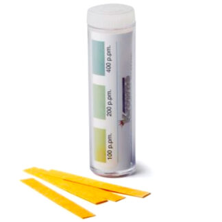 Krowne Quaternary Ammonium Chloride Test Strips with Color-Coded Chart (25124)