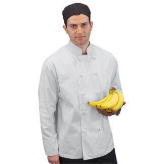 Levon Men's Chef Coat with Knot Button (MC195)