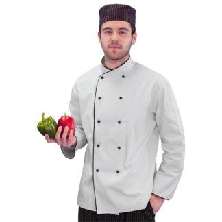Levon Men's Chef Coat with Crossover Collar (MC196)
