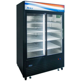 Atosa 45 cu. ft. Two Sliding Glass Door Cooler, Black Exterior (MCF8727GR)