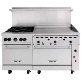 """Vulcan Endurance 60"""" Gas Range, 4-Burner, 36"""" Griddle, 2 Std Ovens (60SS4B36GN)"""