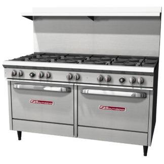 """Southbend S-Series 60"""" Range, 10-Burner, 2 Std Ovens (S60DD)"""
