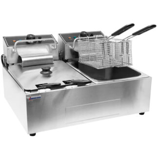 Omcan Double Table Top Electric Fryer, 110 V (34868)